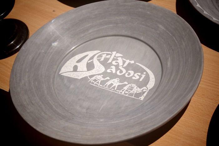 Гравировка на тарелке